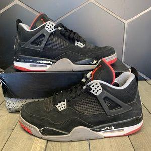 Used 2012 Air Jordan 4 Bred Sneaker Size 11